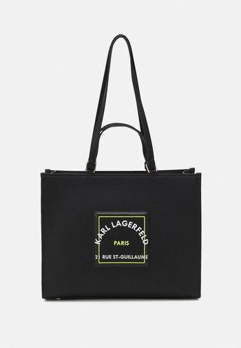PATCH TOTE - Tote bag - black