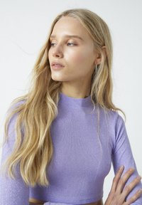 PULL&BEAR - Long sleeved top - purple - 4