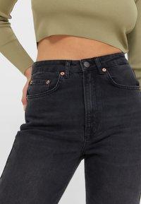 Stradivarius - Straight leg jeans - black - 3