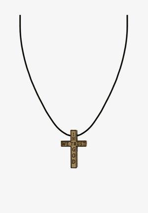 IN GOD WE TRUST - Necklace - hellbraun