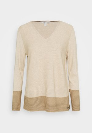 CORE VNECK - Pullover - sand