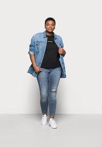 Calvin Klein Jeans Plus - CENSORED TEE - Print T-shirt - black - 1