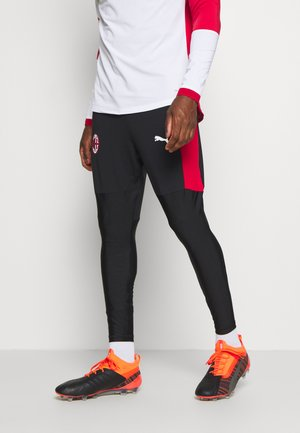 AC MAILAND TRAINING PANT PRO ZIP POCKETS - Equipación de clubes - black/tango red