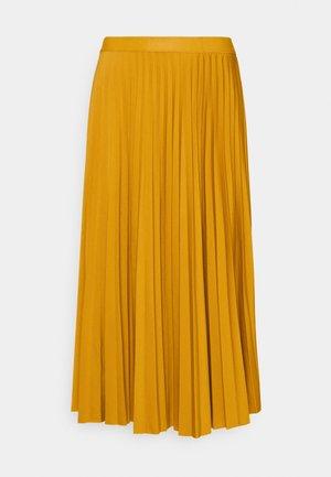 PLISSEE SKIRT - A-linjainen hame - sunflower