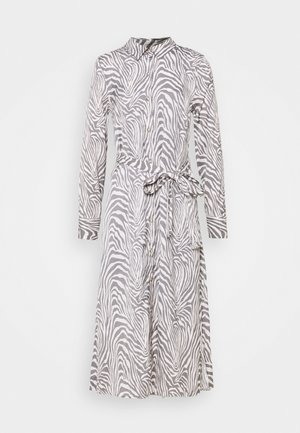 FRONT MIDI SHIRTDRESS PRINT - Shirt dress - offwhite