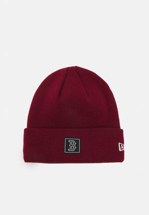 PRINTED PATCH UNISEX - Beanie - dark red