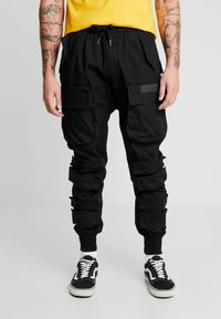 Sixth June - PANTS WITH MULTIPLE POCKETS - Cargo trousers - black - 0