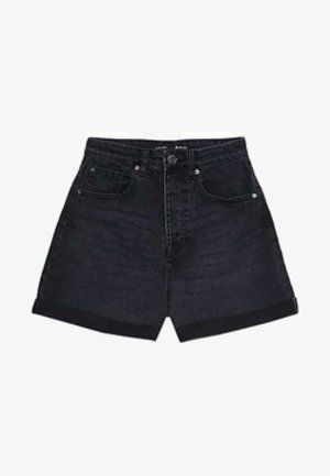 MOM-FIT - Denim shorts - black denim