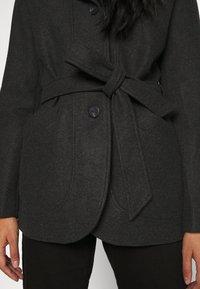 ONLY - ONLCHANETT JACKET  - Zimní kabát - dark grey melange - 5