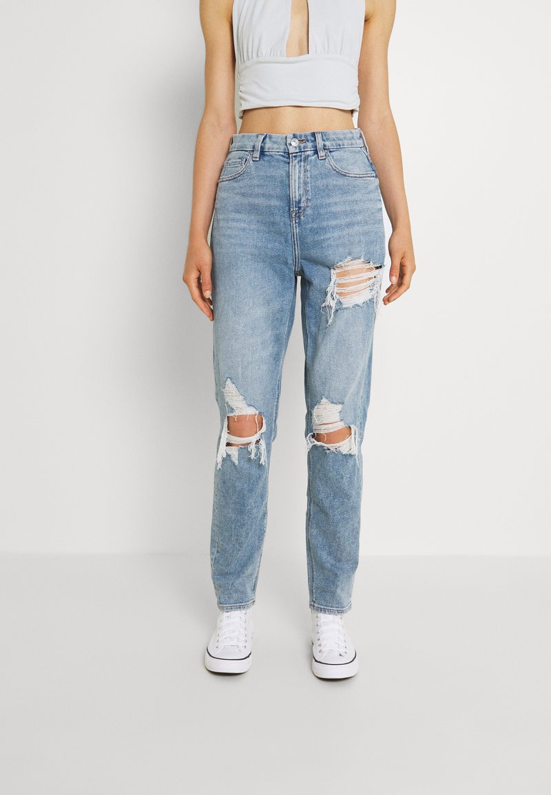 American Eagle - CURVY MOM JEANS - Jeans relaxed fit - blue breeze