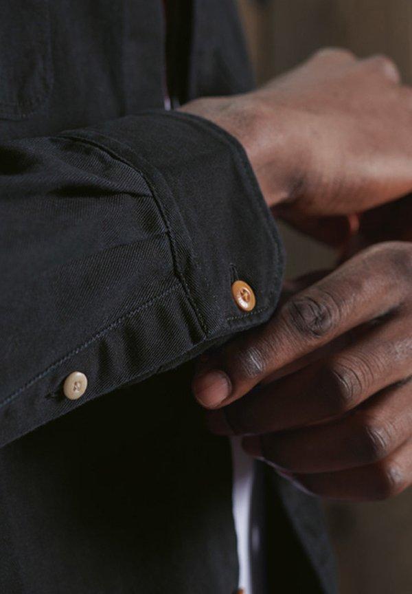 Superdry CLASSIC COMMUTER - Koszula - black twill/czarny Odzież Męska XMYB