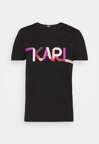 KARL LAGERFELD - STRIPE LOGO - T-Shirt print - black - 5