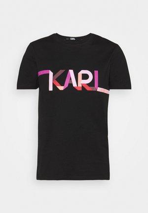 STRIPE LOGO - T-shirt imprimé - black