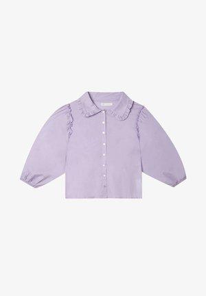 MIT GERÜSCHTEM BUBIKRAGEN - Shirt - mauve