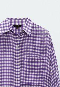 Massimo Dutti - Button-down blouse - dark purple - 2