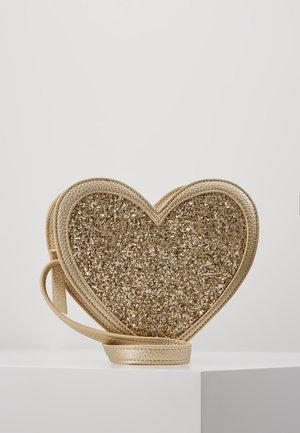 HEART BAG - Taška spříčným popruhem - gold