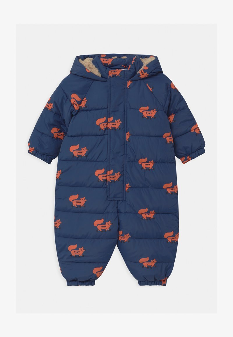 TINYCOTTONS - FOXES PADDED ONE-PIECE - Combinaison de ski - light navy/sienna