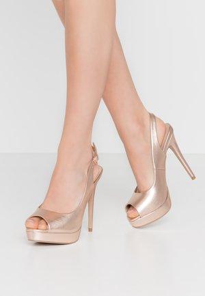 HARPER - Peeptoe heels - gold