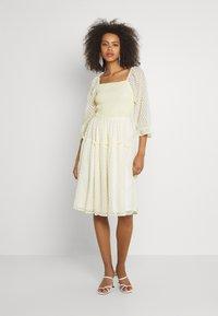 YAS - YASDEANNA 3/4 DRESS - Cocktail dress / Party dress - yellow - 0