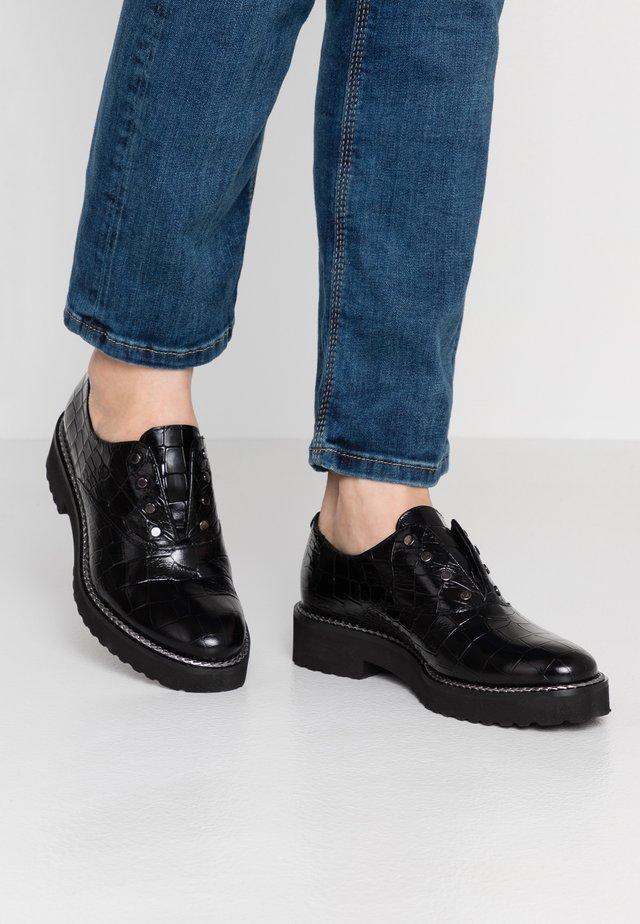 Scarpe senza lacci - coco nero