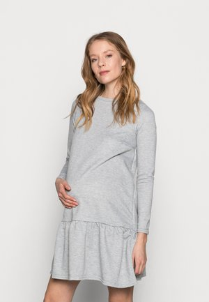 DROP HEM DRESS - Jersey dress - mid grey
