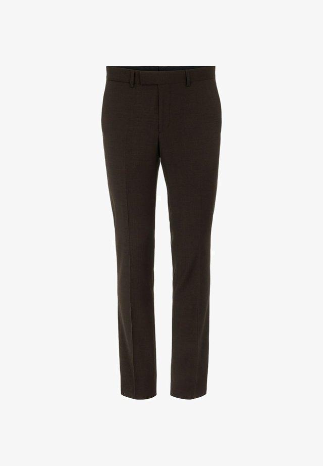 GRANT MICRO CHECK - Pantalon de costume - coffee black