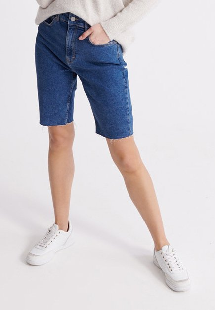 KARI - Denim shorts - dark blue