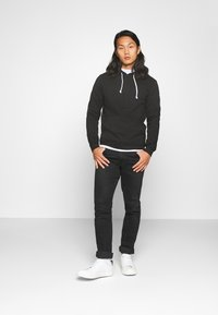 Pier One - 2 PACK - Hoodie - black / light grey - 0