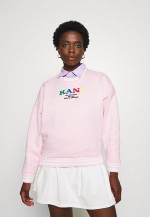 KK RETRO COLLEGE CREW  - Sweatshirt - rose