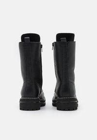 Steven New York - FLORCAP - Šněrovací vysoké boty - black - 3
