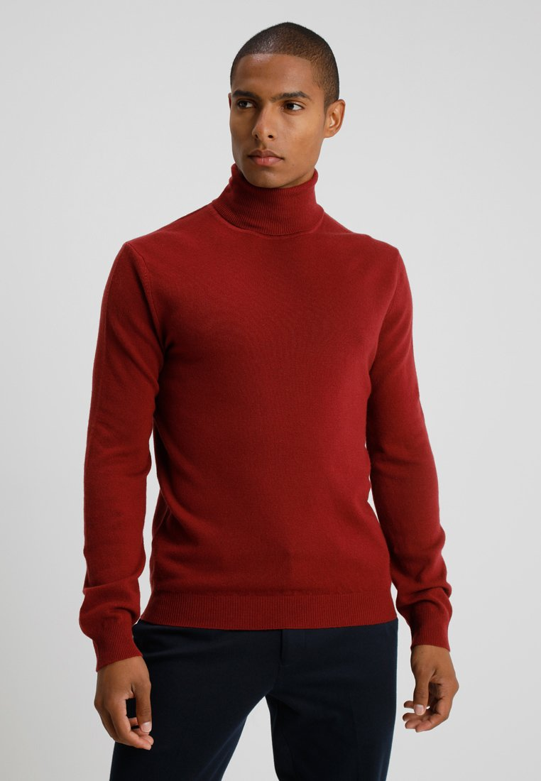 Benetton - BASIC ROLL NECK - Pullover - bordeaux