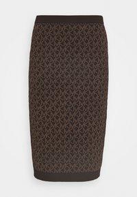 MICHAEL Michael Kors - BOLD  LOGO SKIRT - Pencil skirt - chocolate - 3