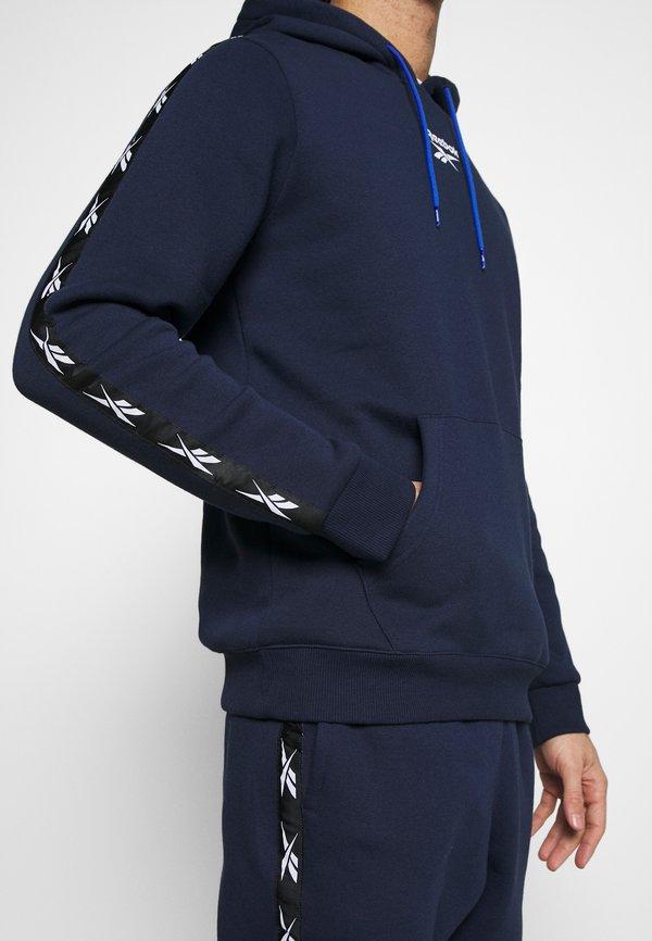 Reebok TAPE HOODIE - Bluza z kapturem - vecnav/granatowy Odzież Męska GATD