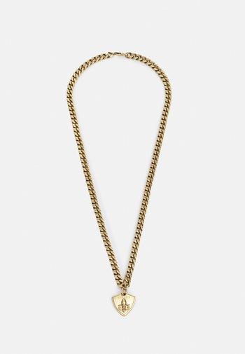 CURB SHIELD UNISEX - Necklace - antique gold-coloured