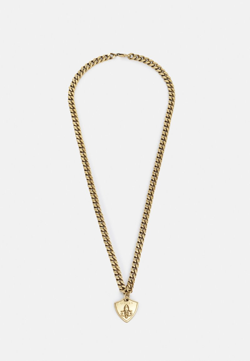 Guess - CURB SHIELD UNISEX - Smykke - antique gold-coloured