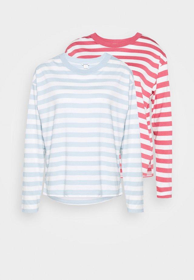 MAJA 2 PACK - Long sleeved top - blue/pink
