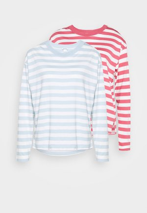 MAJA 2 PACK - Long sleeved top - blue/pink