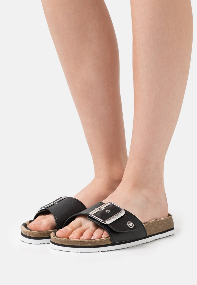 TOM TAILOR - Pantofle - black