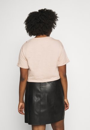 CROP - Print T-shirt - ash peach