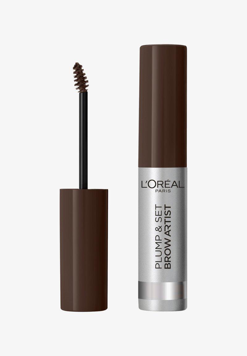 L'Oréal Paris - BROW ARTIST PLUMP & SET - Eyebrow gel - dark brunette