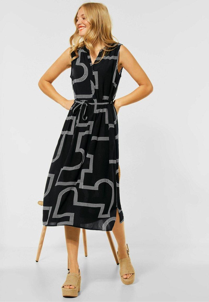 Street One - Shirt dress - schwarz