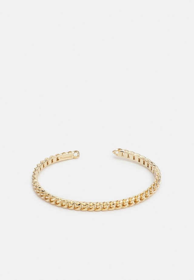 CUBAN LINK CUFF - Armband - polished gold-coloured