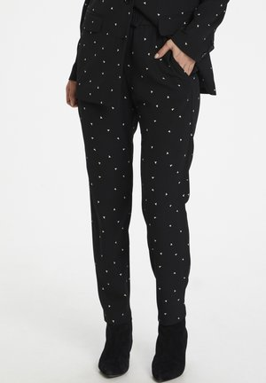 ZANETAIW  - Trousers - black spaced dots