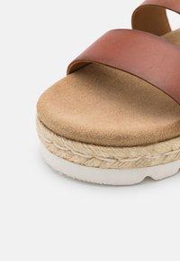 Barbour - GABBIE - Platform sandals - cognac - 6
