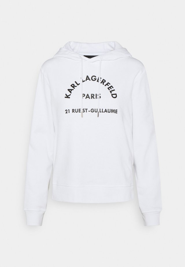 ADDRESS LOGO HOODIE - Sweatshirt - white