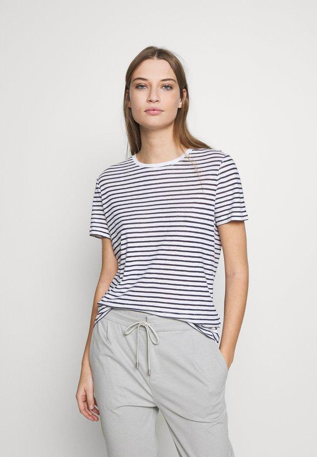 ANISIA - T-shirt con stampa - navy/white