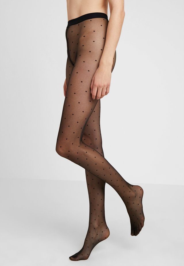 FALKE Dot 15 Denier Strumpfhose Ultra-Transparent matt schwarz - Strumpbyxor - black