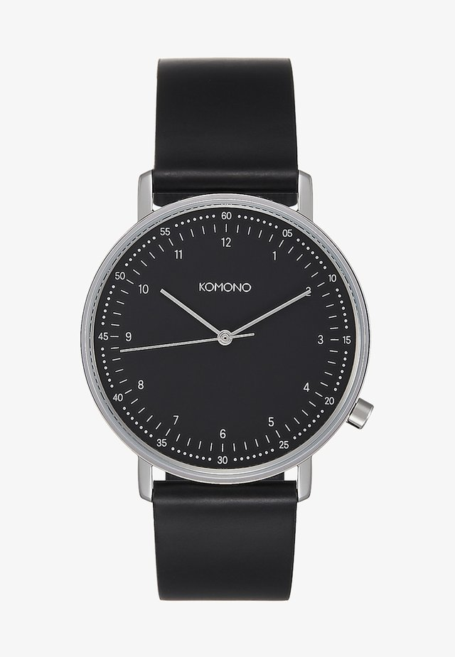 LEWIS - Horloge - black/silver-coloured