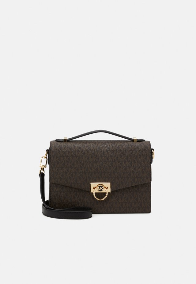 HENDRIX - Handbag - brown/black