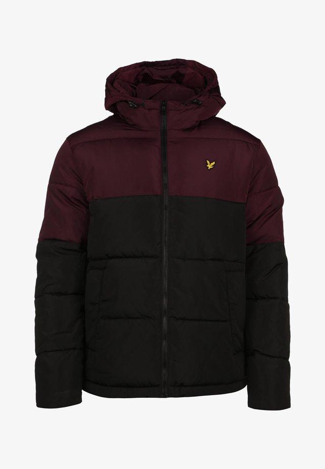 Chaqueta de invierno - jet black / burgundy